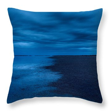 Throw Pillow featuring the photograph Night Moves In by Julian Cook