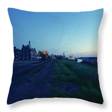 Night Moves On The Mississippi Throw Pillow