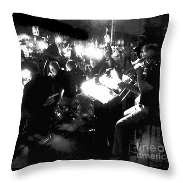 Night Music Throw Pillow by Felipe Adan Lerma