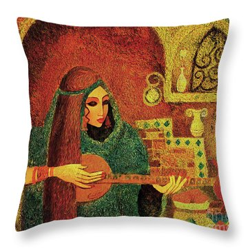 Night Music 3 Throw Pillow