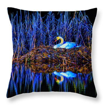 Night Nest Throw Pillow