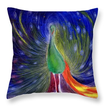 Night Of Light Throw Pillow