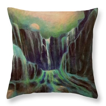 Night Of The Fall  Throw Pillow