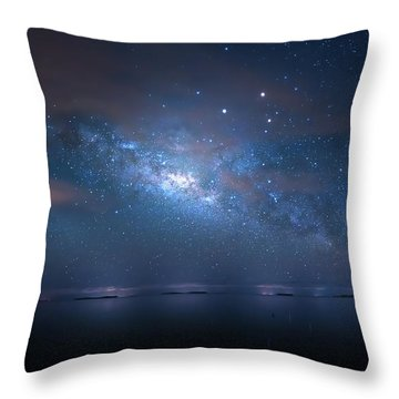 Throw Pillow featuring the photograph Night Of The Milky Way by Mark Andrew Thomas