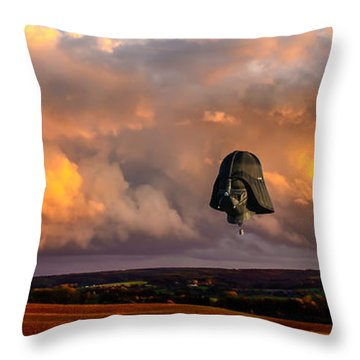 Night Of The Vader Throw Pillow