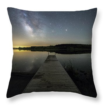 Throw Pillow featuring the photograph Night On The Dock by Aaron J Groen