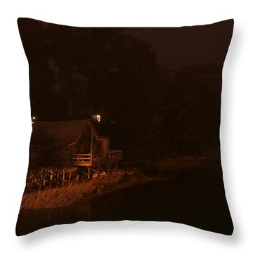 Night On The River Throw Pillow