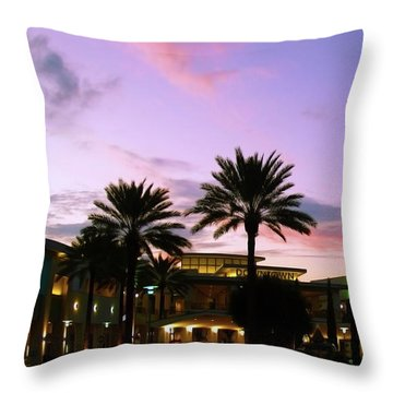 Night On The Town Palm Beach Florida Photo 515 Throw Pillow