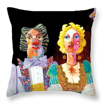 Night Out Throw Pillow by Bob Coonts
