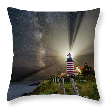 Night Over West Quoddy Throw Pillow