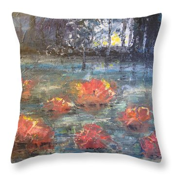 Night Pond Throw Pillow