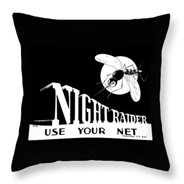 Night Raider Ww2 Malaria Poster Throw Pillow by War Is Hell Store