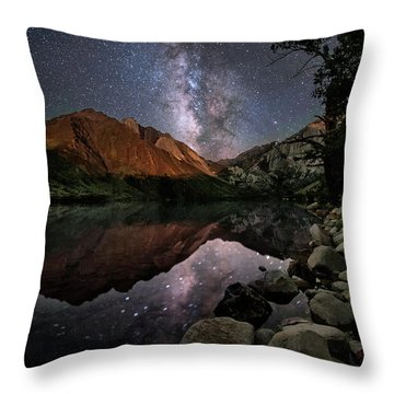 Throw Pillow featuring the photograph Night Reflections by Melany Sarafis