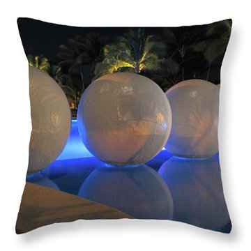 Throw Pillow featuring the photograph Night Reflections by Shane Bechler