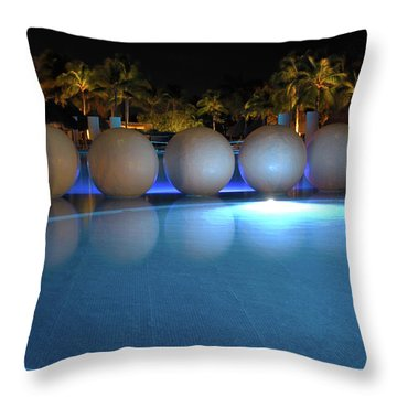 Throw Pillow featuring the photograph Night Resort by Shane Bechler