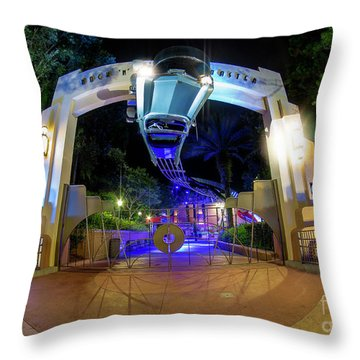Night Ride On The Rock And Roll Coaster Throw Pillow