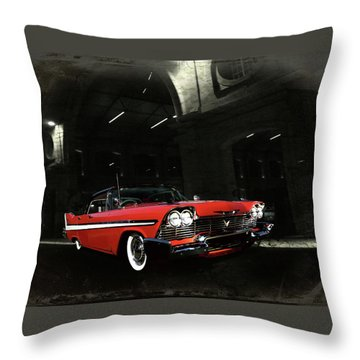 Night Ride Throw Pillow by Steven Agius