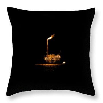 Night Rig Throw Pillow