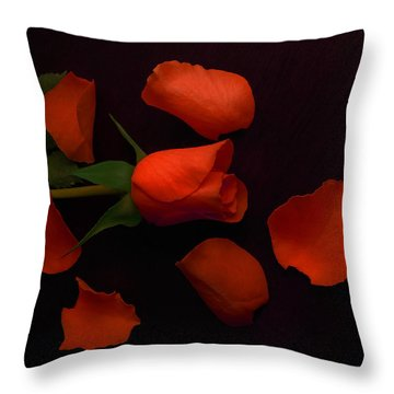 Night Rose 2 Throw Pillow