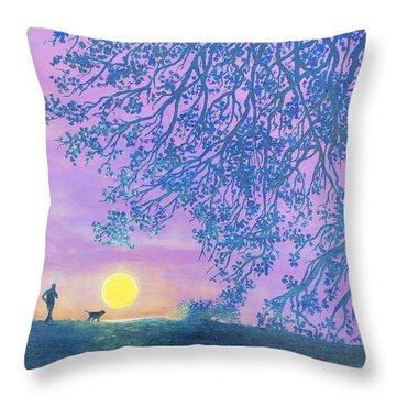Night Runner Throw Pillow