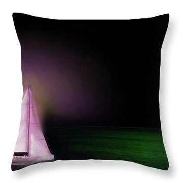 Night Sailing Throw Pillow by Michael Cleere
