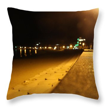 Night Seaside Throw Pillow