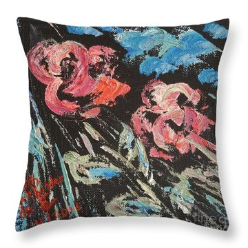 Night Shade Throw Pillow by Judith Espinoza