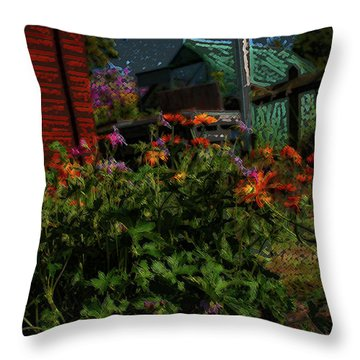 Night Shift For The Mice Throw Pillow