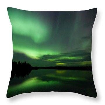 Throw Pillow featuring the photograph Night Show by Yvette Van Teeffelen