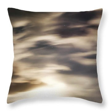 Night Sky 1 Throw Pillow by Leland D Howard