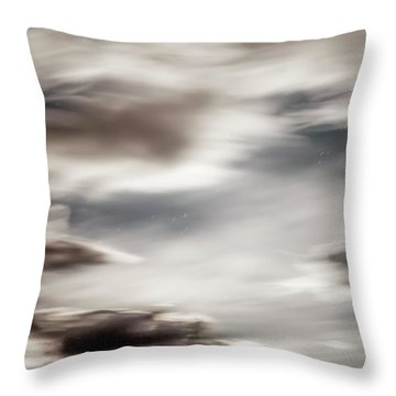 Night Sky 3 Throw Pillow by Leland D Howard
