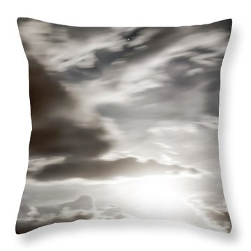 Night Sky 5 Throw Pillow by Leland D Howard