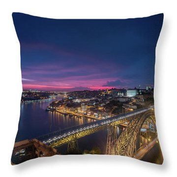 Throw Pillow featuring the photograph Night Sky by Bruno Rosa