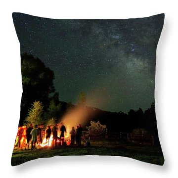 Night Sky Fire Throw Pillow by Matt Helm