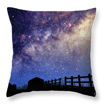Night Sky Throw Pillow by Larry Landolfi and Photo Researchers