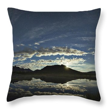 Night Sky Panorama Throw Pillow