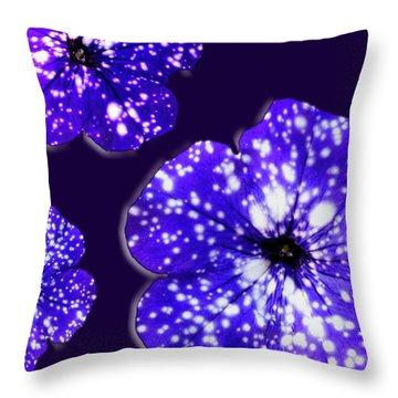 Night Sky Petunias Throw Pillow by Tara Hutton