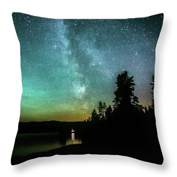 Night Sky Throw Pillow by Rose-Marie Karlsen