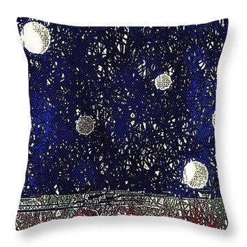 Night Sky View Throw Pillow