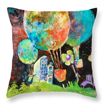 Night Soaring Throw Pillow