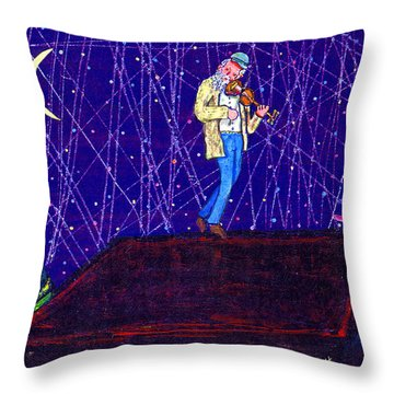 Night Song  Throw Pillow