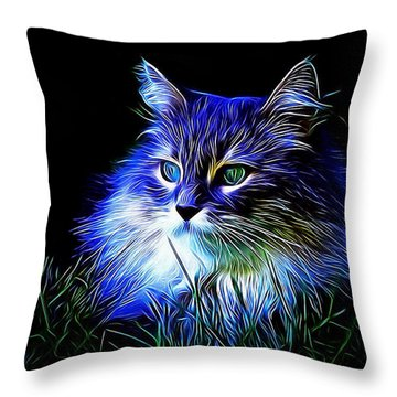 Night Stalker Throw Pillow by Kathy Kelly
