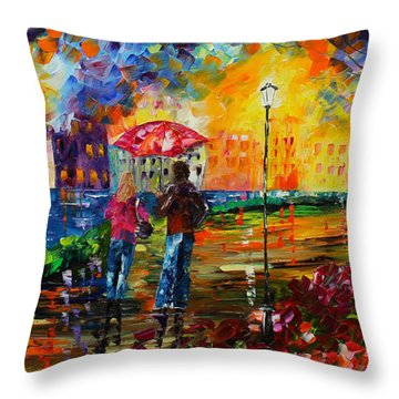 Night Stroll Throw Pillow