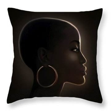 Night Sun  Throw Pillow