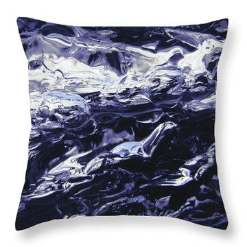 Throw Pillow featuring the photograph Night Swim by Sami Tiainen
