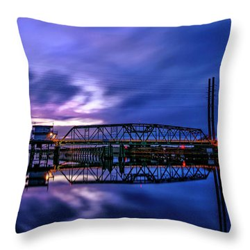 Night Swing Bridge Throw Pillow