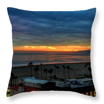 Night Tennis Anyone Throw Pillow