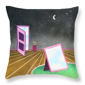 Night Throw Pillow by Thomas Blood