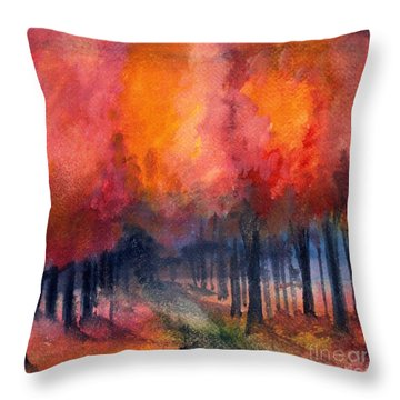Night Time Among The Maples Throw Pillow
