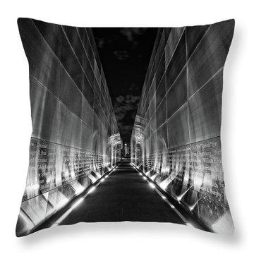 Night Time At Empty Sky Memorial Throw Pillow
